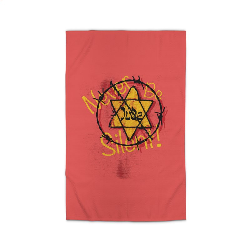 Never Be Silent! Home Rug by Americans Against Antisemitism's Artist Shop