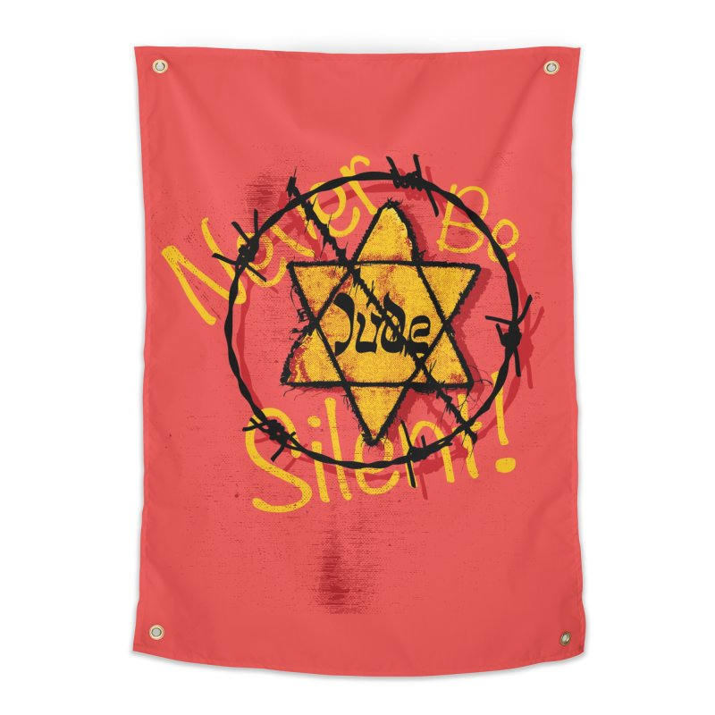 Never Be Silent! Home Tapestry by Americans Against Antisemitism's Artist Shop