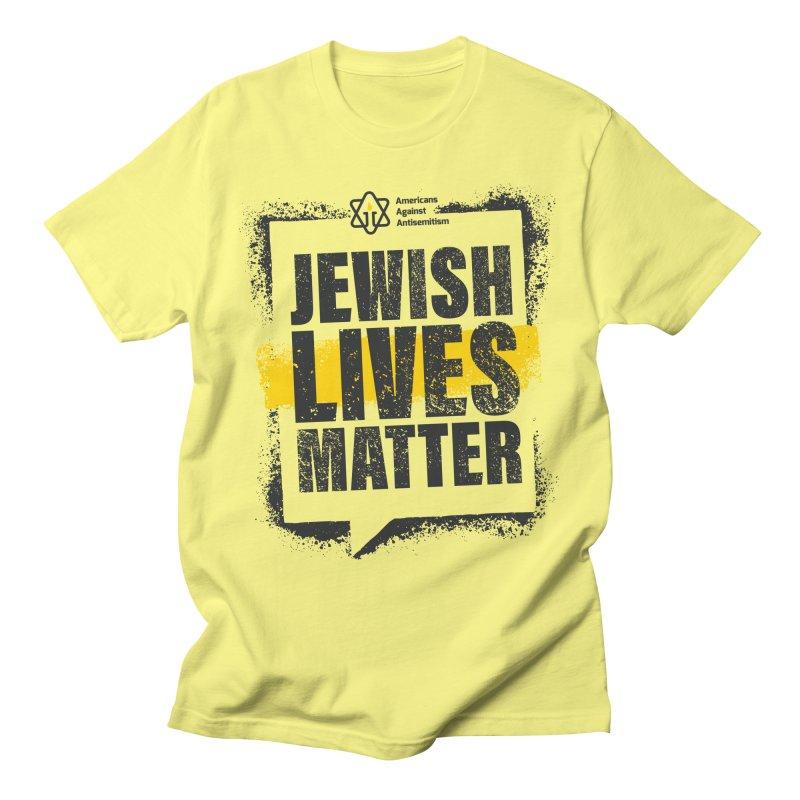 Jewish Lives Matter Men's T-Shirt by Americans Against Antisemitism's Artist Shop