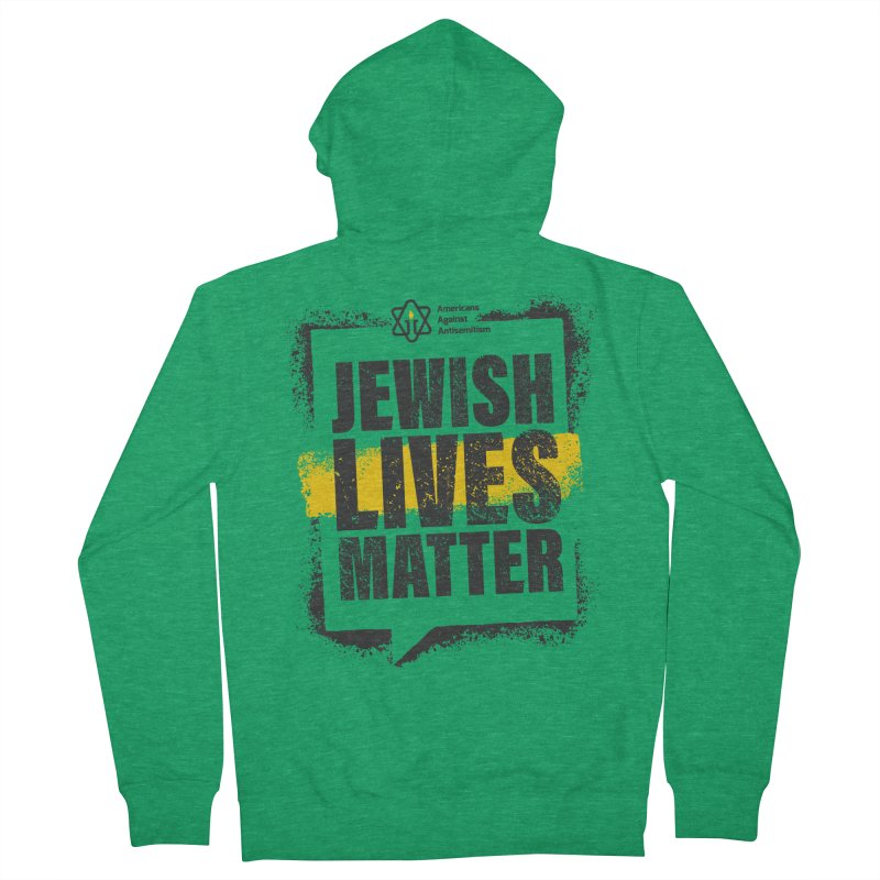 Jewish Lives Matter Men's Zip-Up Hoody by Americans Against Antisemitism's Artist Shop