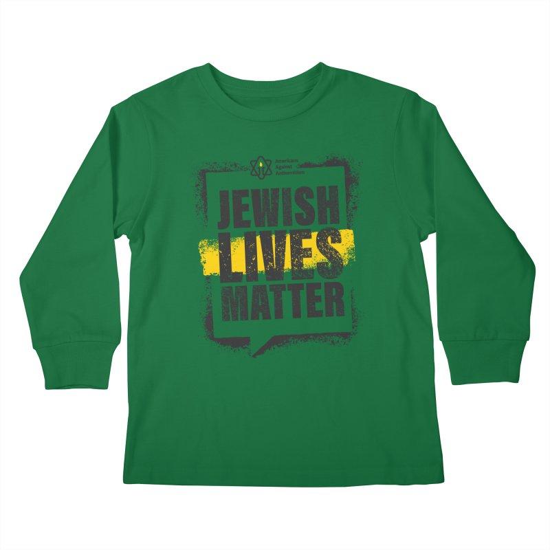 Jewish Lives Matter Kids Longsleeve T-Shirt by Americans Against Antisemitism's Artist Shop