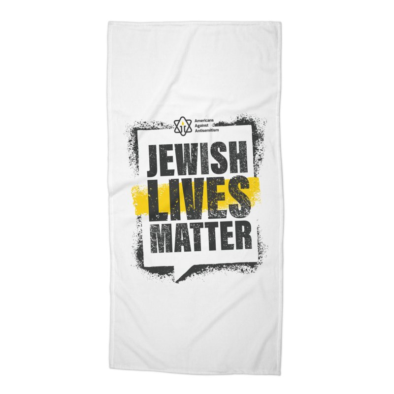 Jewish Lives Matter Accessories Beach Towel by Americans Against Antisemitism's Artist Shop