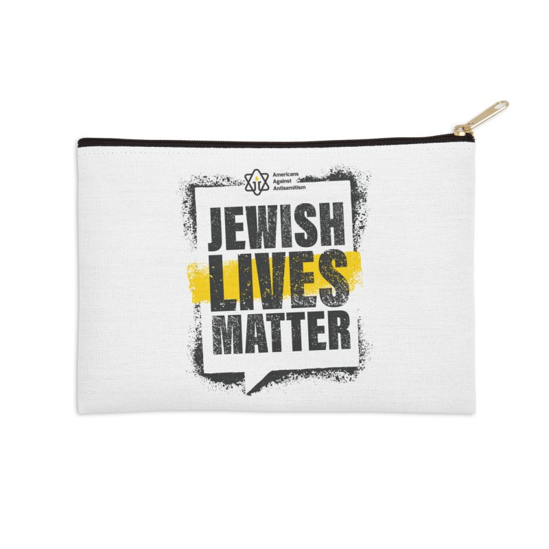 Jewish Lives Matter Accessories Zip Pouch by Americans Against Antisemitism's Artist Shop