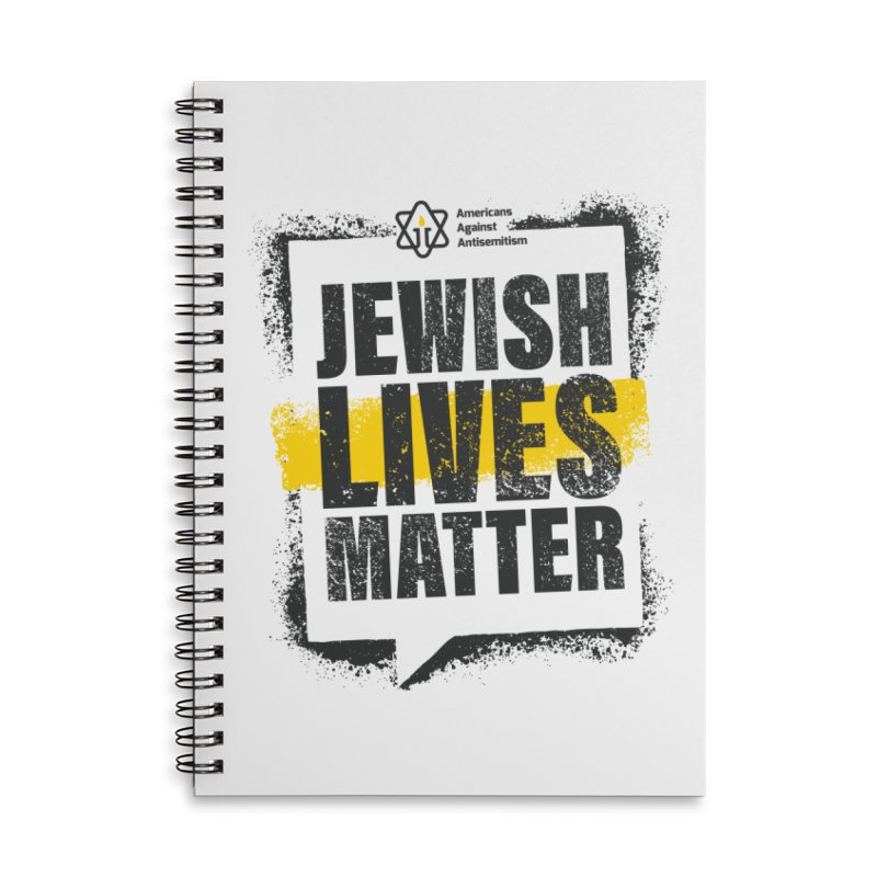 Jewish Lives Matter Accessories Notebook by Americans Against Antisemitism's Artist Shop
