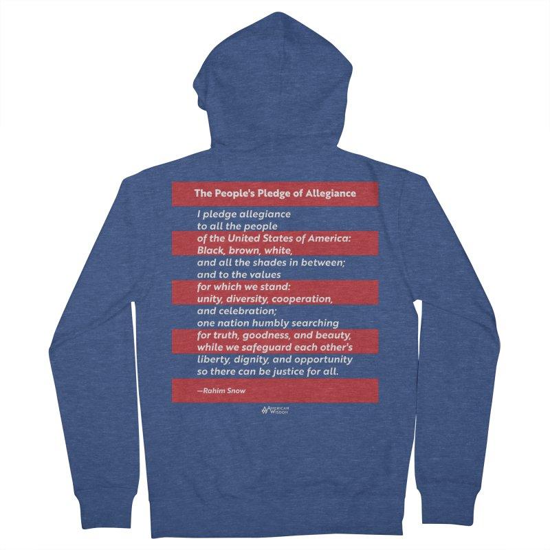 The People's Pledge of Allegiance Men's Zip-Up Hoody by American Wisdom