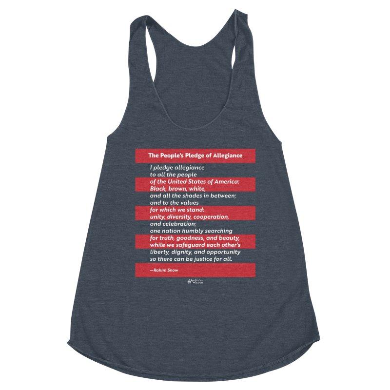 The People's Pledge of Allegiance Women's Tank by American Wisdom