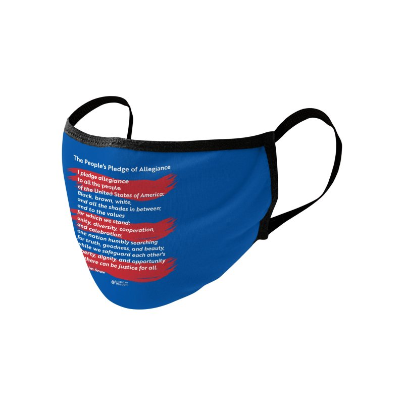 The People's Pledge of Allegiance (red brush) Accessories Face Mask by American Wisdom