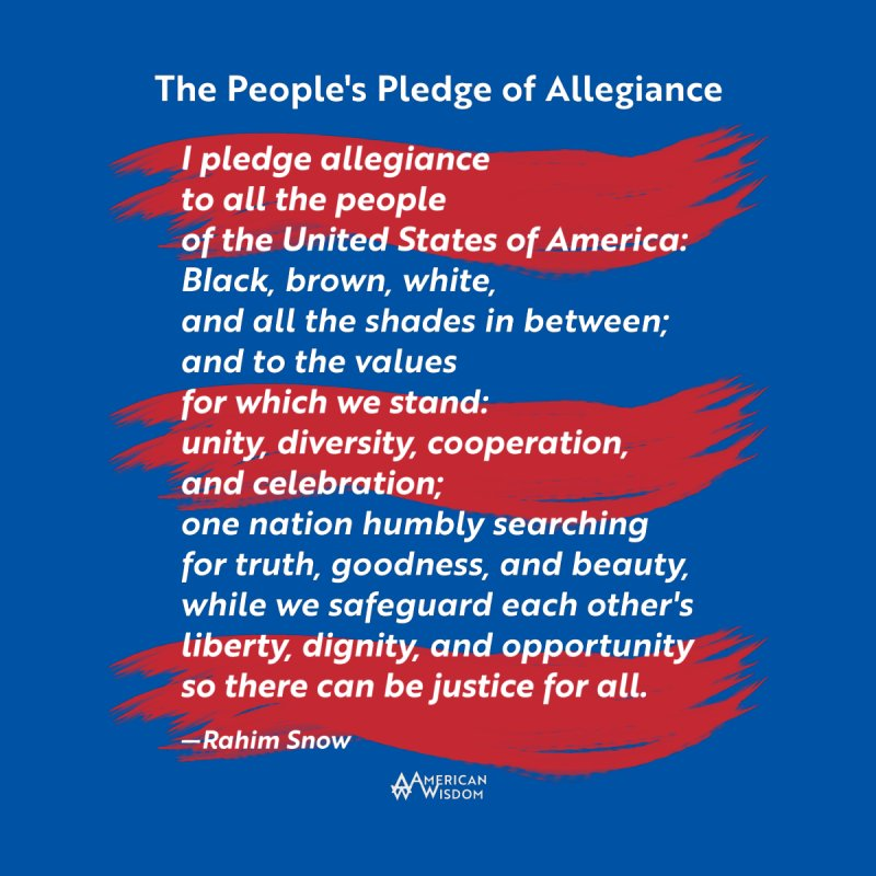 The People's Pledge of Allegiance (red brush) Men's T-Shirt by American Wisdom