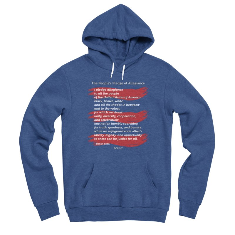 The People's Pledge of Allegiance (red brush) Men's Pullover Hoody by American Wisdom