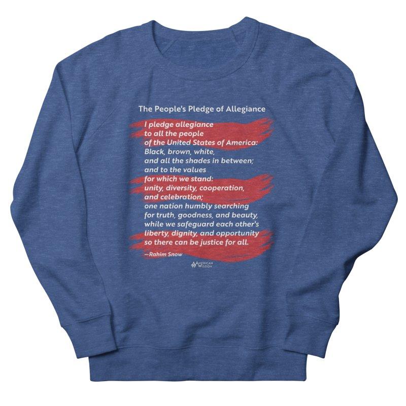 The People's Pledge of Allegiance (red brush) Men's Sweatshirt by American Wisdom