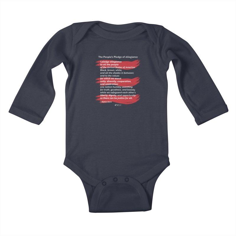 The People's Pledge of Allegiance (red brush) Kids Baby Longsleeve Bodysuit by American Wisdom