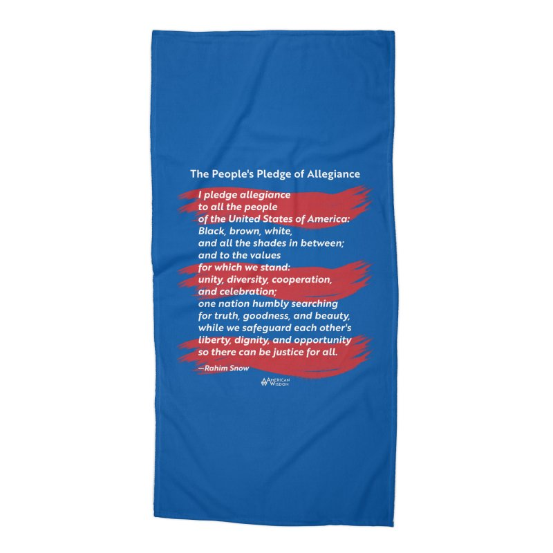The People's Pledge of Allegiance (red brush) Accessories Beach Towel by American Wisdom