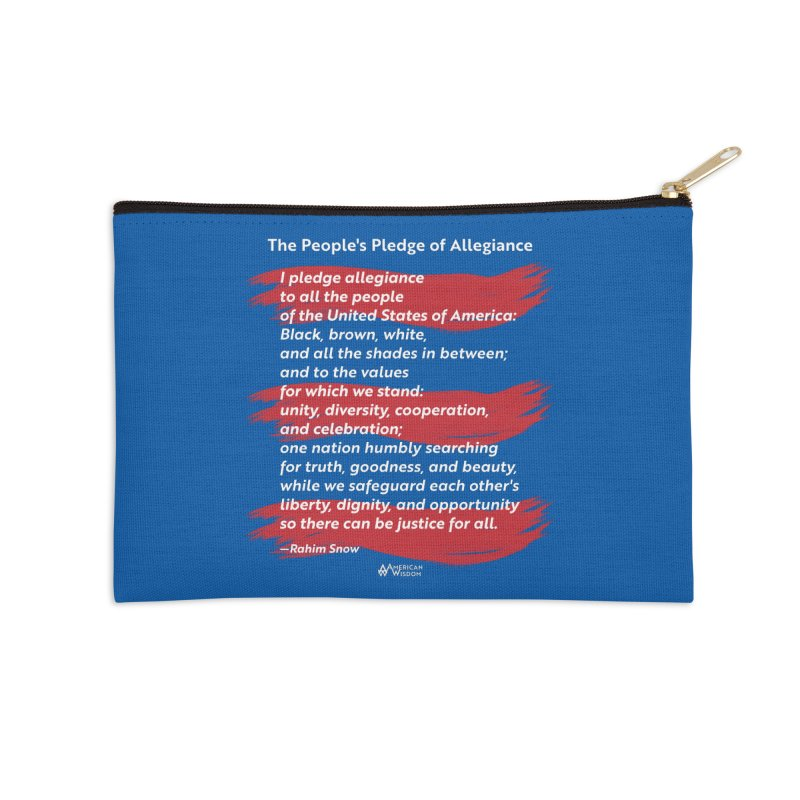 The People's Pledge of Allegiance (red brush) Accessories Zip Pouch by American Wisdom