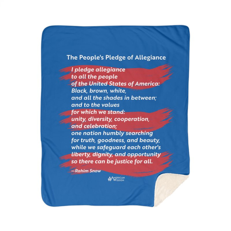 The People's Pledge of Allegiance (red brush) Home Blanket by American Wisdom