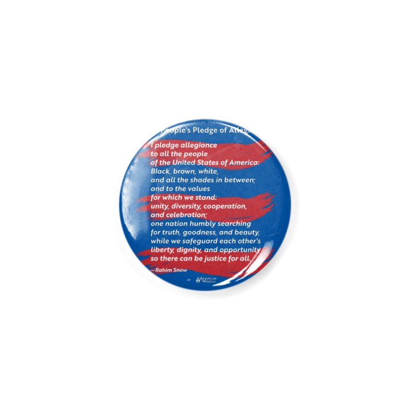 The People's Pledge of Allegiance (red brush) Accessories Button by American Wisdom