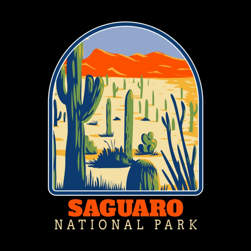 Saguaro National Park Men's T-Shirt by Amid The Wild