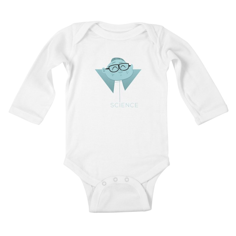 Science Boy Kids Baby Longsleeve Bodysuit by amirabouroumie's Artist Shop
