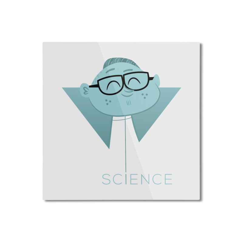 Science Boy Home Mounted Aluminum Print by amirabouroumie's Artist Shop