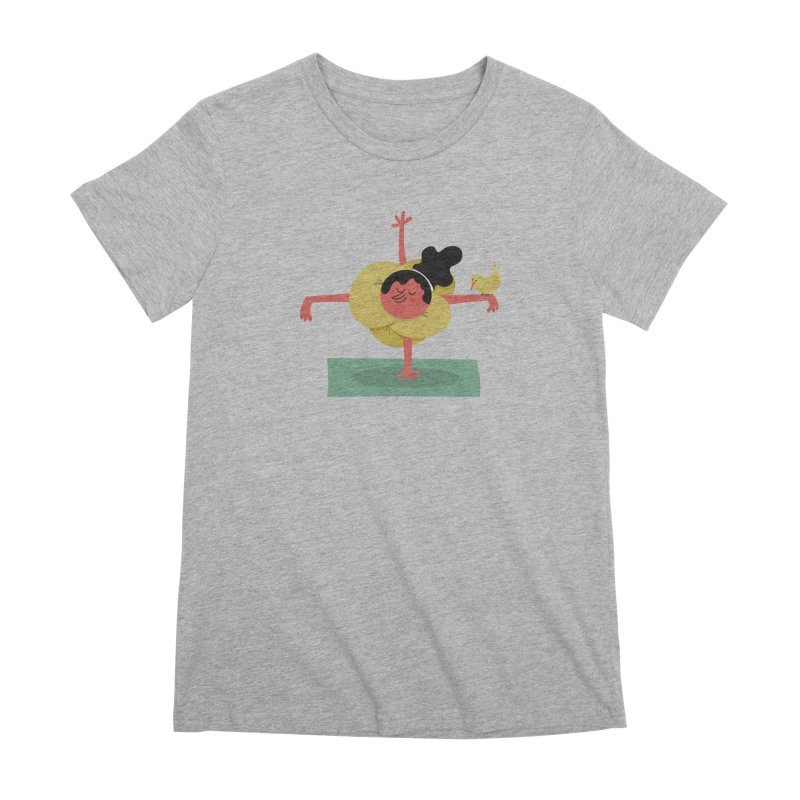I Love Yoga Women's Premium T-Shirt by amirabouroumie's Artist Shop