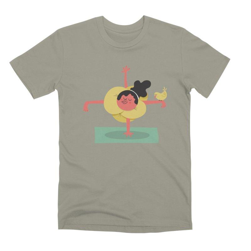 I Love Yoga Men's Premium T-Shirt by amirabouroumie's Artist Shop
