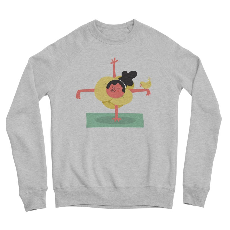 I Love Yoga Men's Sponge Fleece Sweatshirt by amirabouroumie's Artist Shop