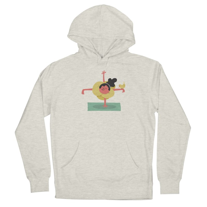 I Love Yoga Women's French Terry Pullover Hoody by amirabouroumie's Artist Shop
