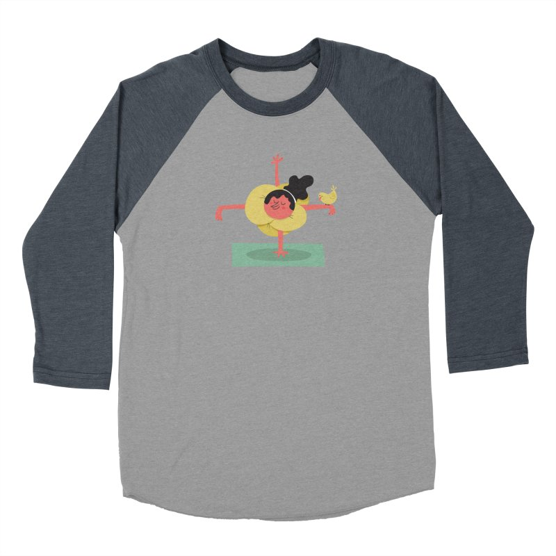 I Love Yoga Men's Baseball Triblend Longsleeve T-Shirt by amirabouroumie's Artist Shop