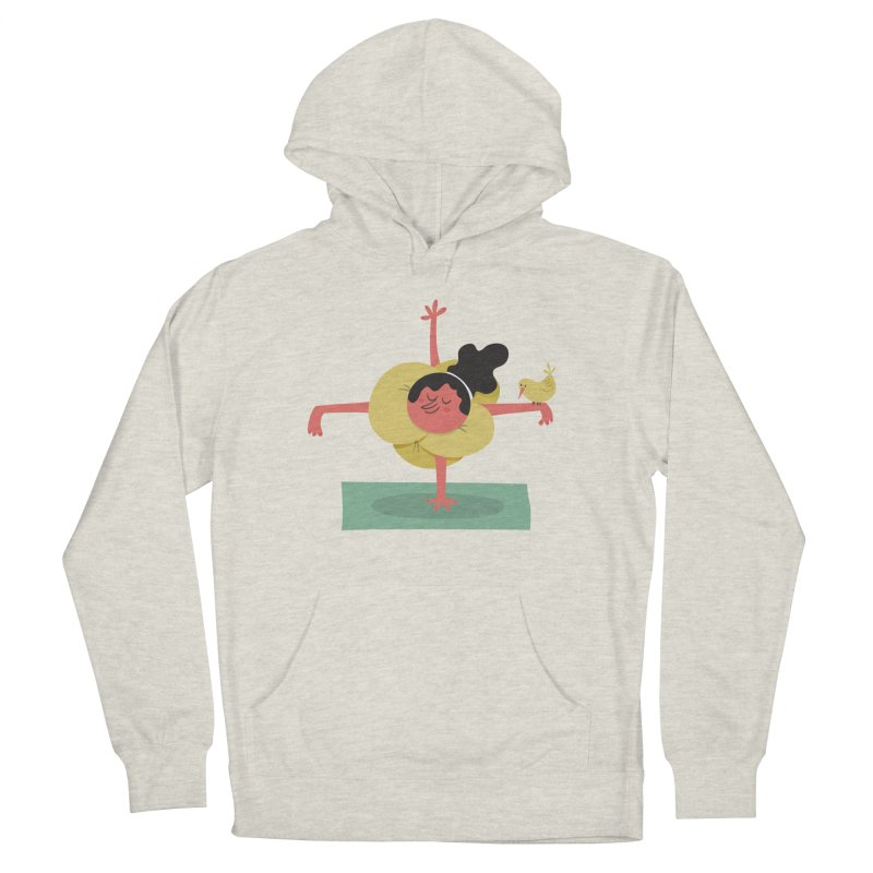 I Love Yoga Men's French Terry Pullover Hoody by amirabouroumie's Artist Shop