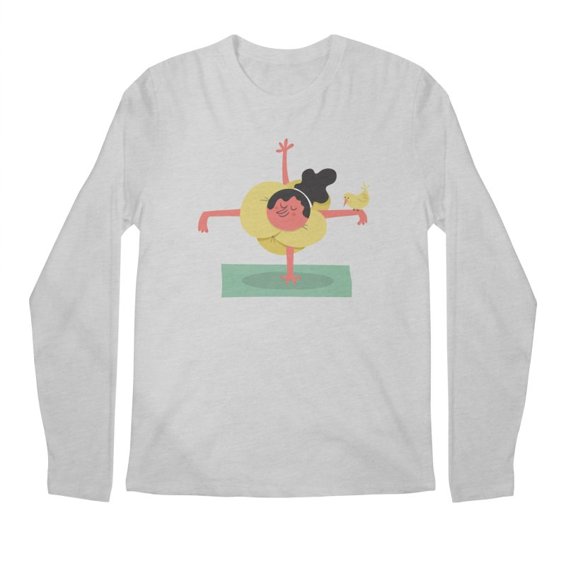 I Love Yoga Men's Regular Longsleeve T-Shirt by amirabouroumie's Artist Shop