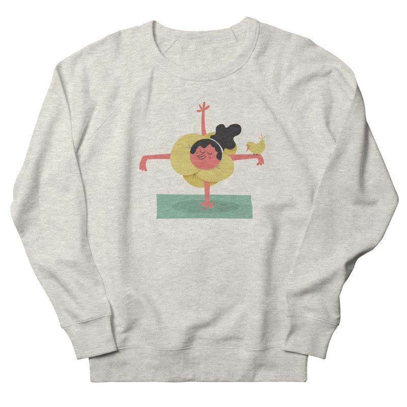 I Love Yoga Men's French Terry Sweatshirt by amirabouroumie's Artist Shop
