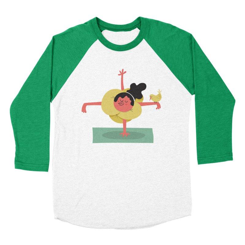 I Love Yoga Women's Baseball Triblend Longsleeve T-Shirt by amirabouroumie's Artist Shop