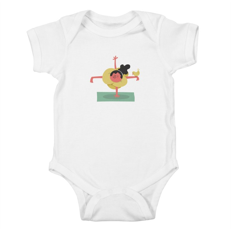 I Love Yoga Kids Baby Bodysuit by amirabouroumie's Artist Shop