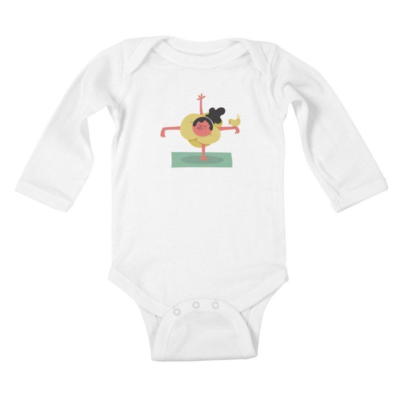 I Love Yoga Kids Baby Longsleeve Bodysuit by amirabouroumie's Artist Shop
