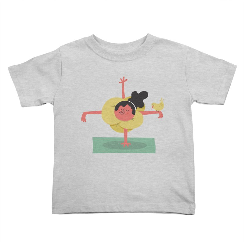 I Love Yoga Kids Toddler T-Shirt by amirabouroumie's Artist Shop