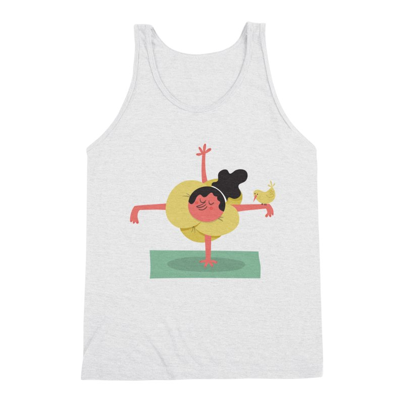 I Love Yoga Men's Triblend Tank by amirabouroumie's Artist Shop