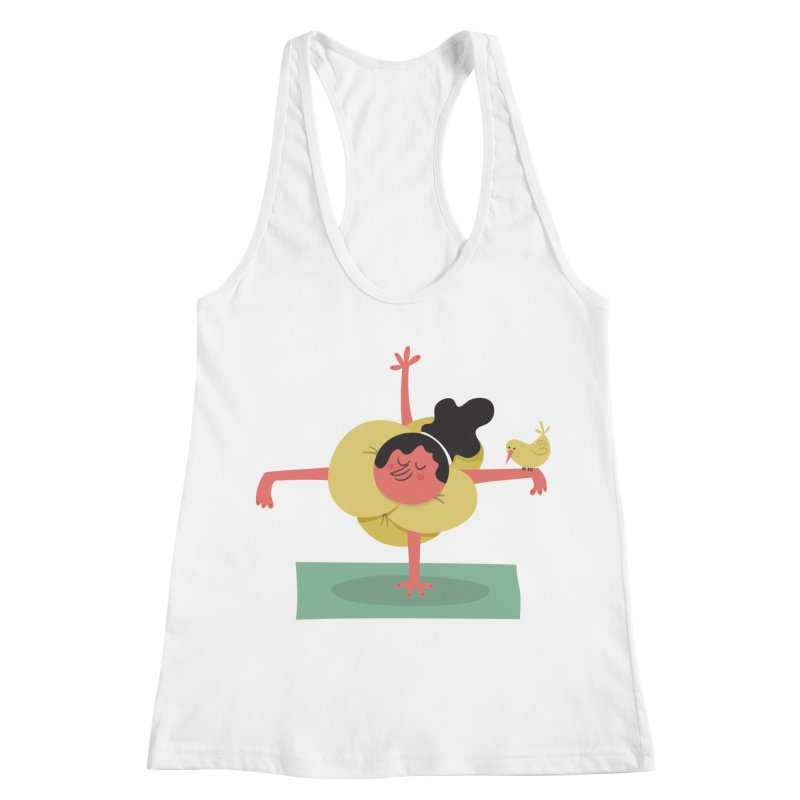 I Love Yoga Women's Racerback Tank by amirabouroumie's Artist Shop