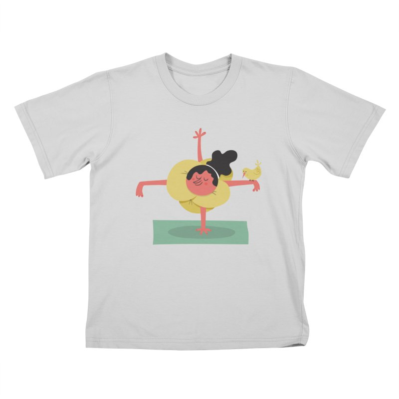 I Love Yoga Kids T-Shirt by amirabouroumie's Artist Shop