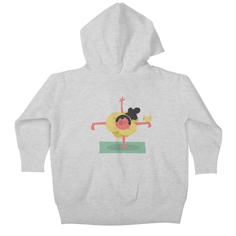 I Love Yoga Kids Baby Zip-Up Hoody by amirabouroumie's Artist Shop