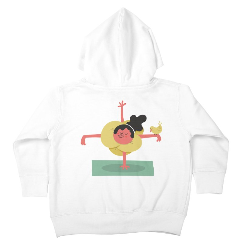 I Love Yoga Kids Toddler Zip-Up Hoody by amirabouroumie's Artist Shop