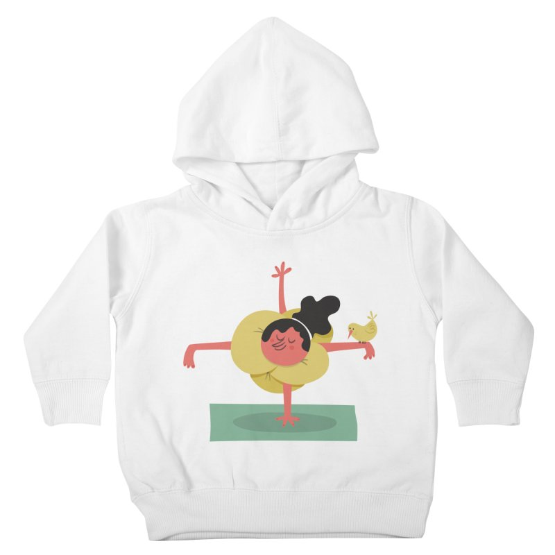 I Love Yoga Kids Toddler Pullover Hoody by amirabouroumie's Artist Shop