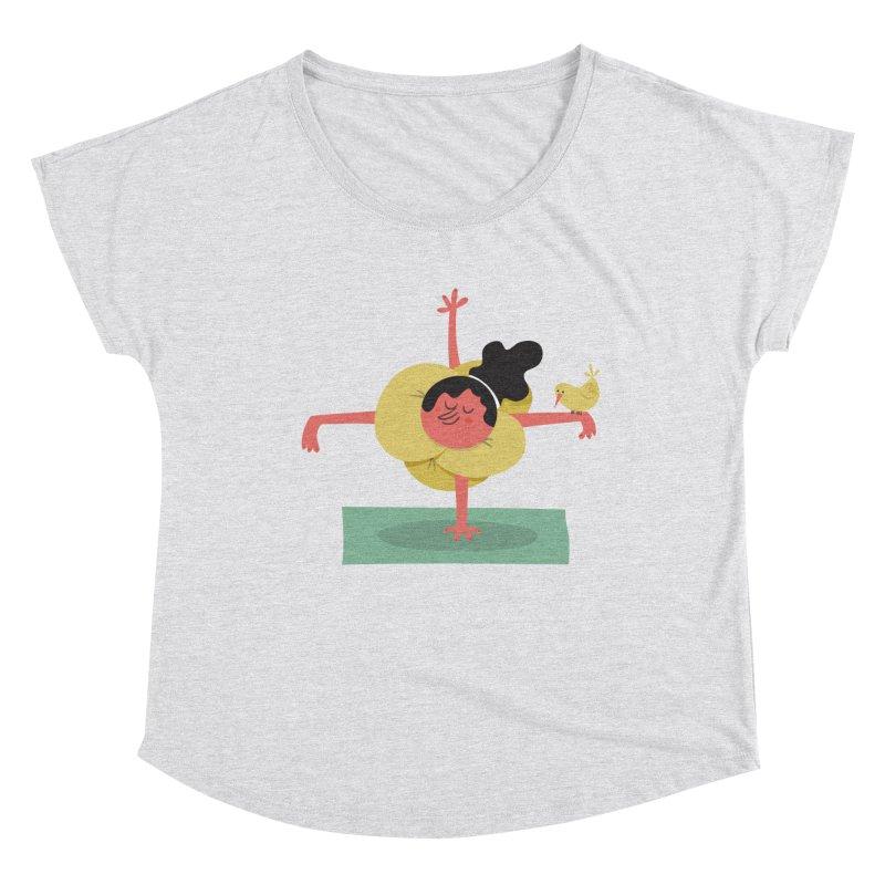 I Love Yoga Women's Dolman Scoop Neck by amirabouroumie's Artist Shop