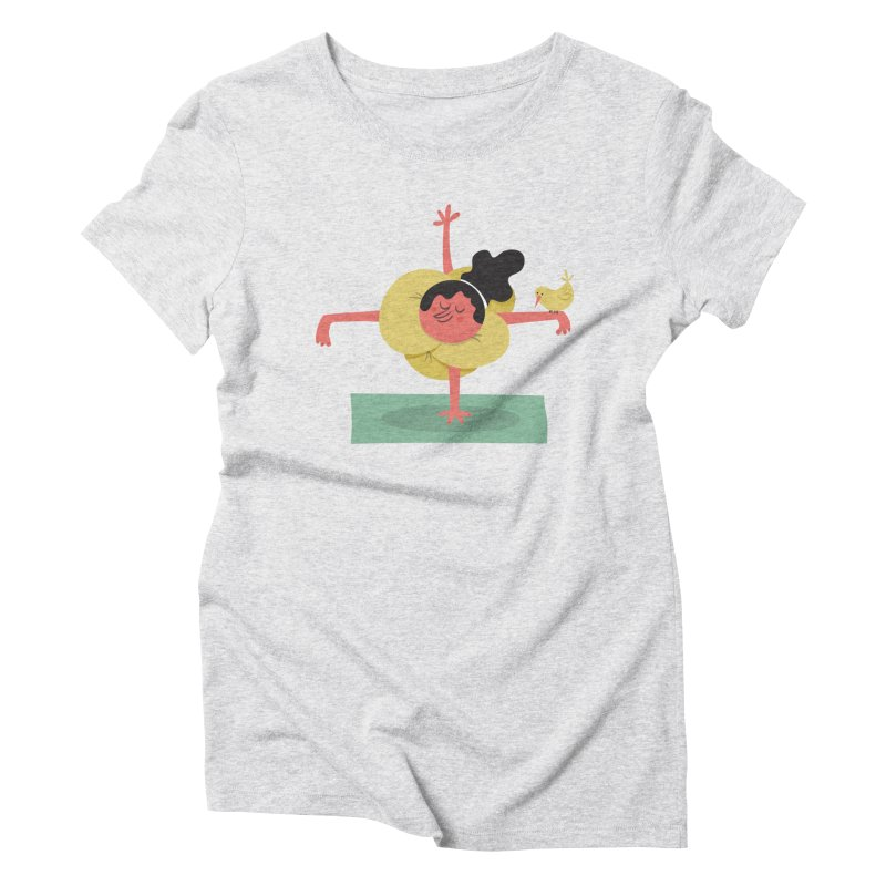 I Love Yoga Women's Triblend T-Shirt by amirabouroumie's Artist Shop
