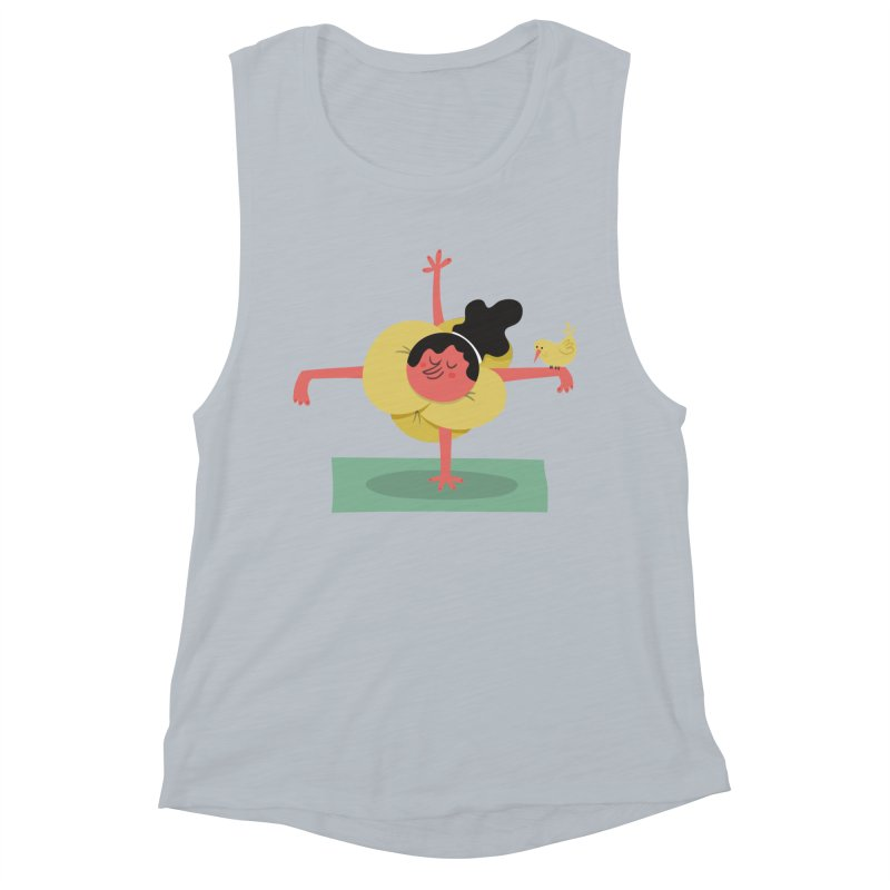 I Love Yoga Women's Muscle Tank by amirabouroumie's Artist Shop