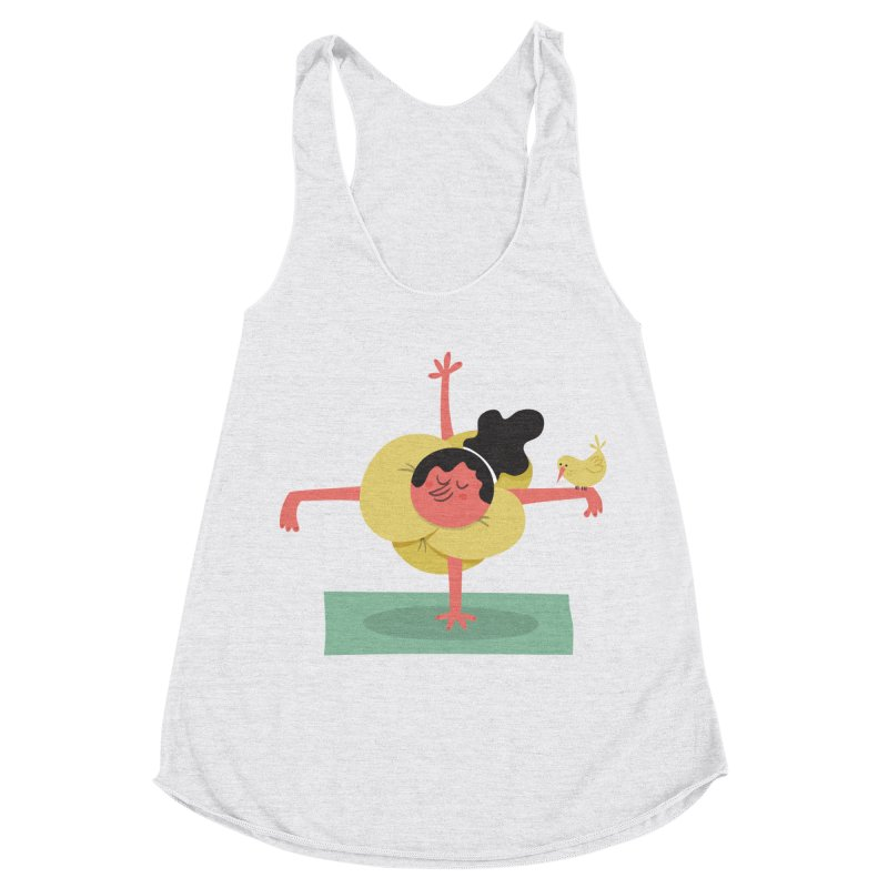I Love Yoga Women's Racerback Triblend Tank by amirabouroumie's Artist Shop