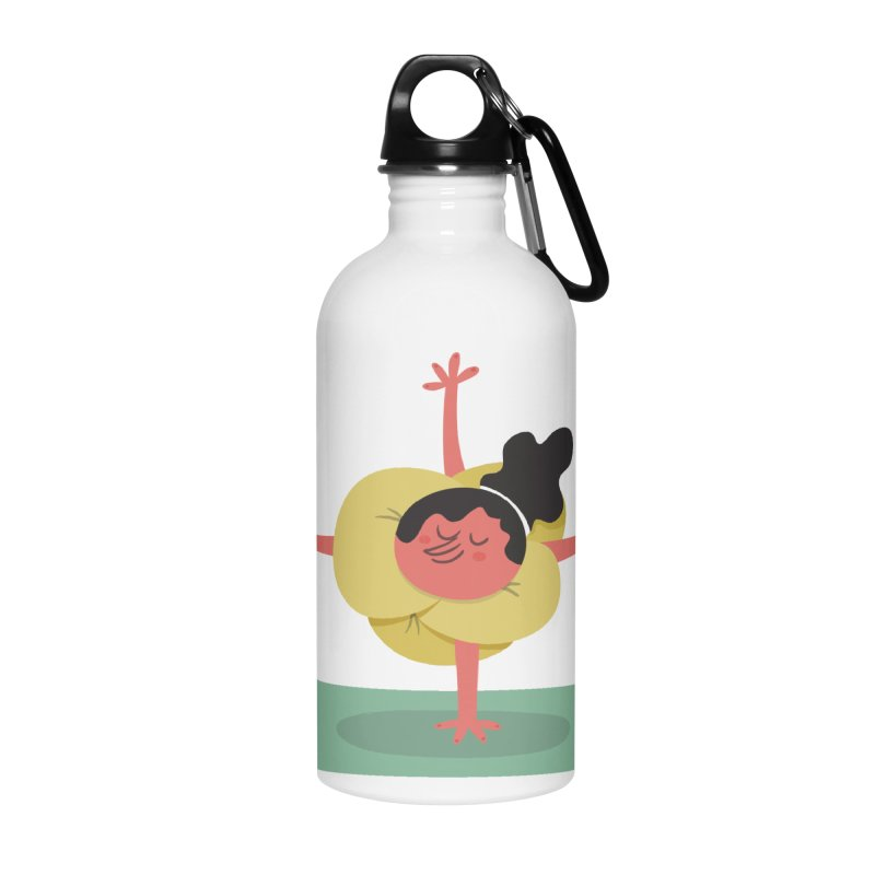 I Love Yoga Accessories Water Bottle by amirabouroumie's Artist Shop