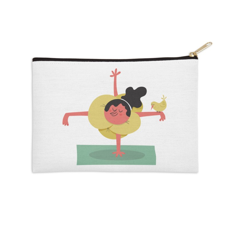 I Love Yoga Accessories Zip Pouch by amirabouroumie's Artist Shop