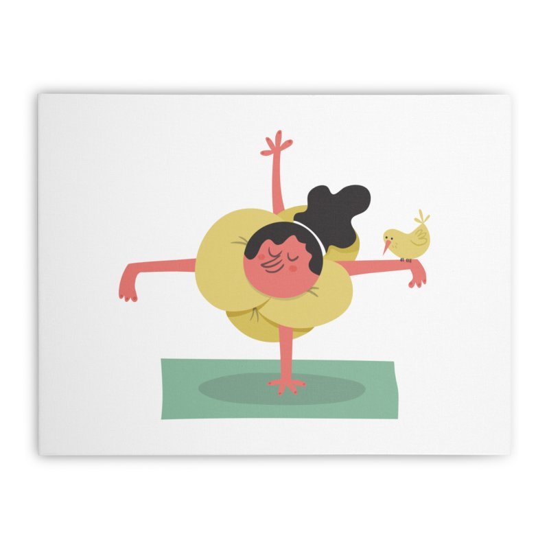 I Love Yoga Home Stretched Canvas by amirabouroumie's Artist Shop