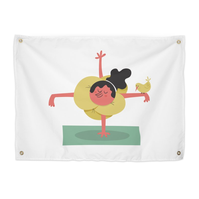 I Love Yoga Home Tapestry by amirabouroumie's Artist Shop