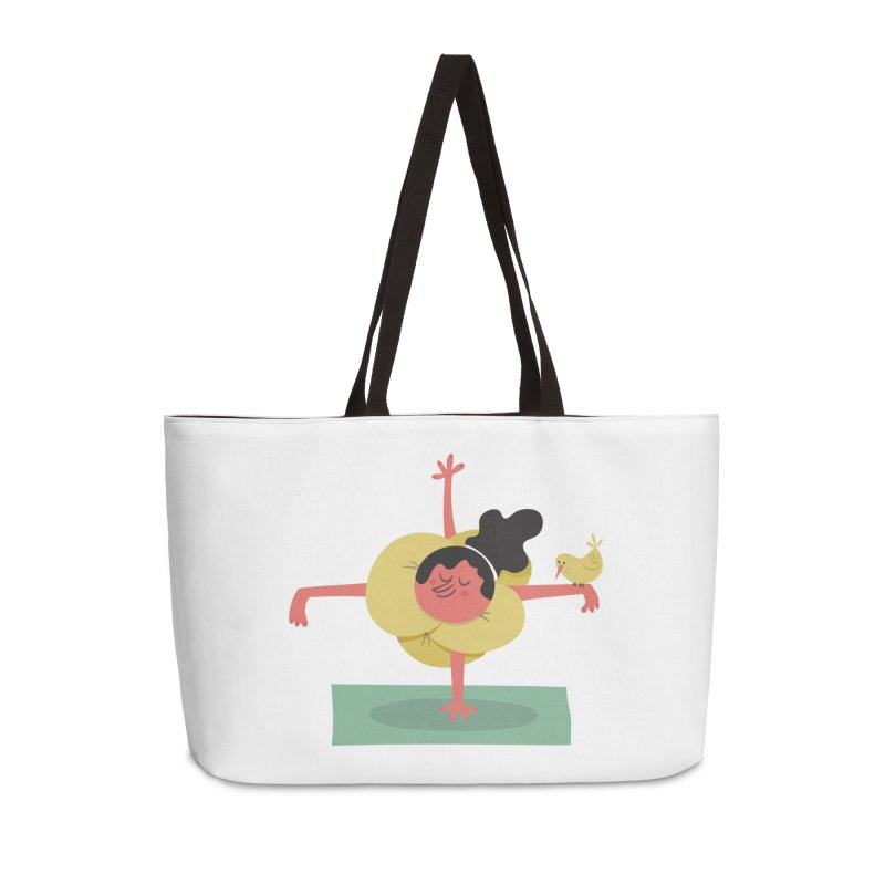 I Love Yoga Accessories Weekender Bag Bag by amirabouroumie's Artist Shop