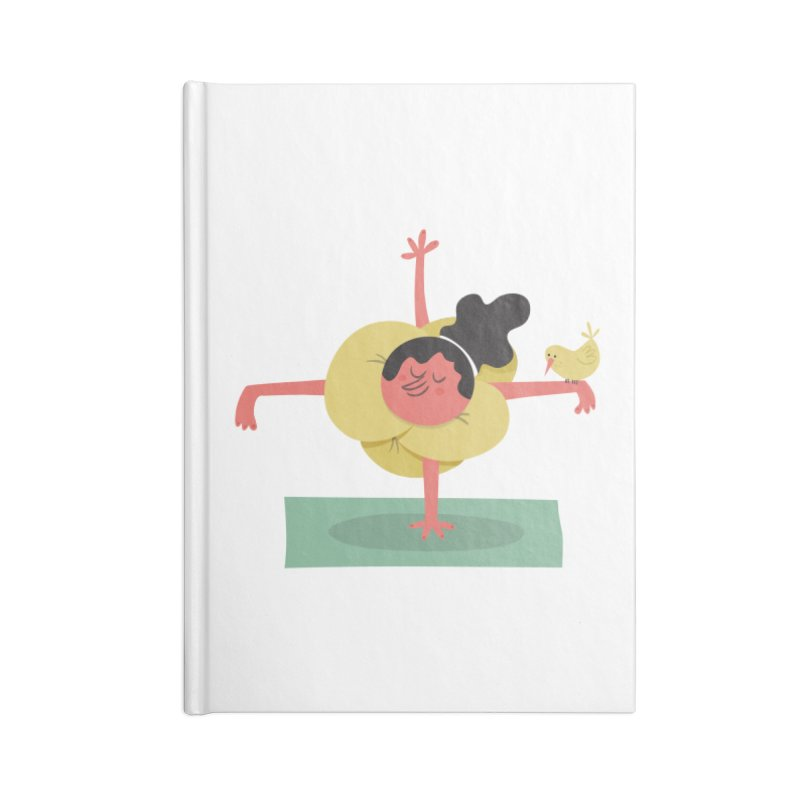 I Love Yoga Accessories Lined Journal Notebook by amirabouroumie's Artist Shop